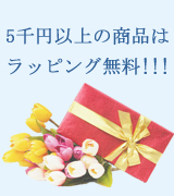 5千円以上の商品はラッピング無料!